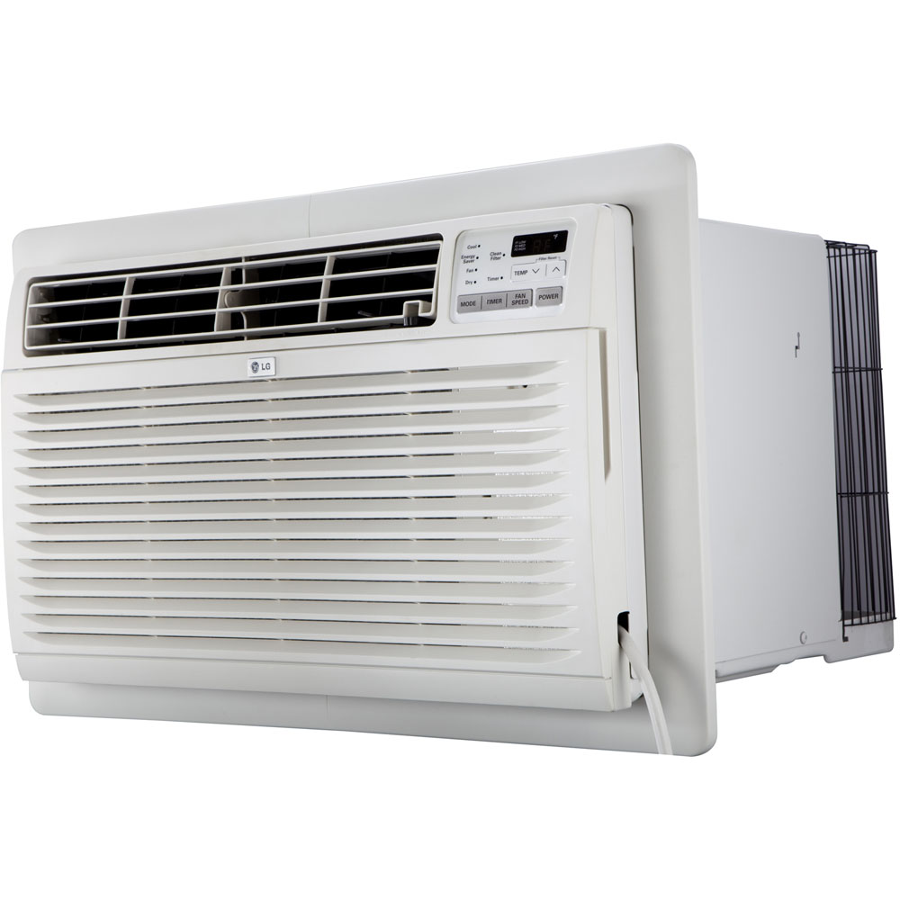 230V Through-the-Wall Air Conditioner with Remote Control, 10,000 BTU, White