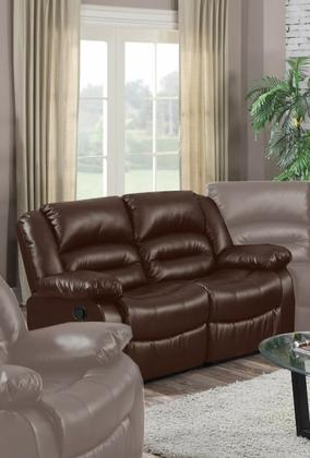 Eden Brown Leather Recliner Loveseat
