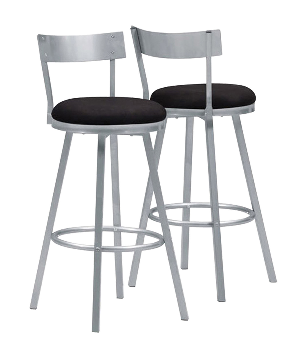"(Open Box) Barstool - 2 Pieces / 43""H / Swivel / Silver Metal"